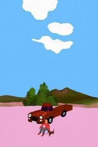 Drive with the dog in a pickup truck by Hiroyuki Izutsu