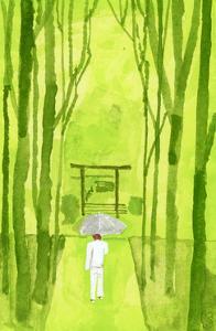 ise shrine; Torii is the entrance to the shrine, 2016 by Hiroyuki Izutsu