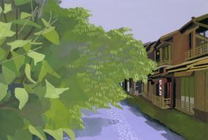 Kyoto Takase River by Hiroyuki Izutsu