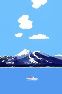 Mountains and lakes by Hiroyuki Izutsu
