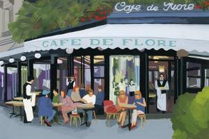 Paris cafe and garcon and guests,2015 by Hiroyuki Izutsu