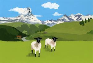 Sheep in Zermatt, Switzerland,2015 by Hiroyuki Izutsu