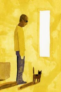 The room where the move-off has finished. A man with a cat, 2017 by Hiroyuki Izutsu