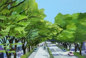 Tokyo,Omotesando, Harajuku by Hiroyuki Izutsu