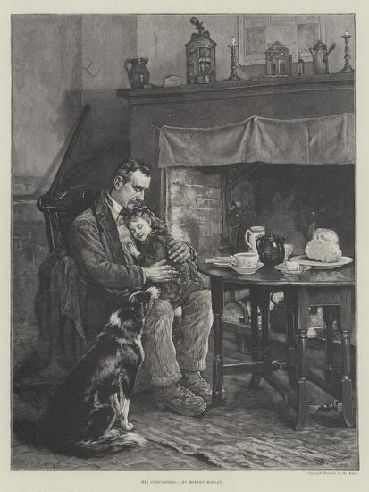 His Comforters-Robert Morley-Giclee Print