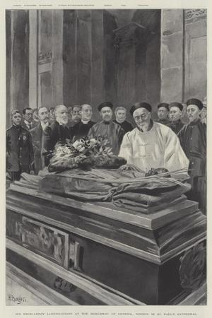 His Excellency Li-Hung-Chang at the Monument of General Gordon in St Paul's Cathedral--Giclee Print