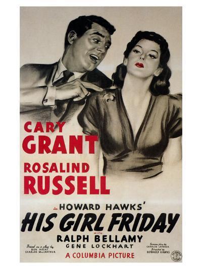 His Girl Friday, 1940--Art Print