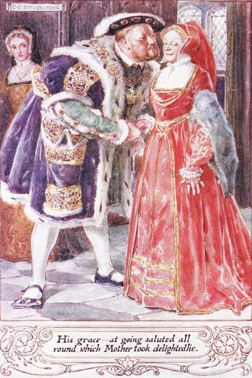 His Grace at Going Saluted All Round, Which Mother Took Delightedlie-Charles Edmund Brock-Giclee Print