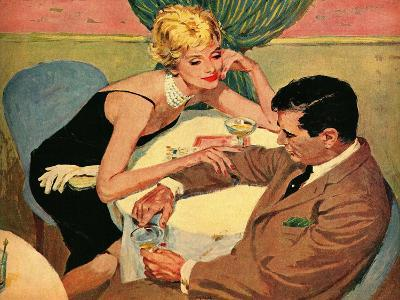 "His Highness and the Thrush  - Saturday Evening Post ""Leading Ladies"", September 3, 1960 pg.22-Lynn Buckham-Giclee Print"