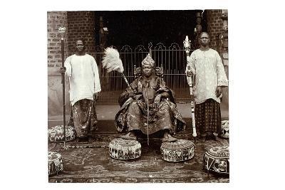 His Highness Oba (King) Aderemi I, the Oni of Ile Ife, Yorubaland, Nigeria, c.1930--Giclee Print