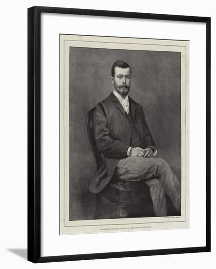 His Imperial Majesty Nicholas II, the New Czar of Russia--Framed Giclee Print
