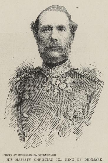 His Majesty Christian IX, King of Denmark--Giclee Print