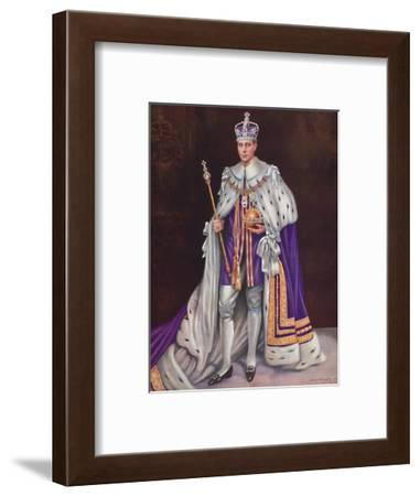 'His Majesty King George VI', 1937-Louis Dezart-Framed Photographic Print