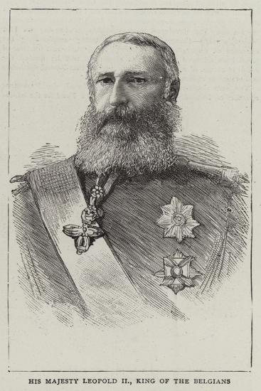 His Majesty Leopold Ii, King of the Belgians--Giclee Print