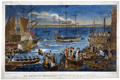 His Majesty's Embarkation at Greenwich, for Scotland, 1822-John Chapman-Giclee Print