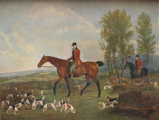 'His Majesty's Harriers', c19th century-Richard Woodman-Giclee Print