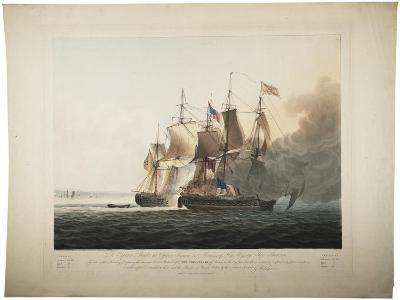His Majesty's Ship Shannon Capturing the American Frigate Chesapeake, 1813-George Webster-Giclee Print