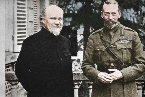 'His Majesty with President Poincare at The British General Headquarters in France', c1916, (1935)-Unknown-Photographic Print