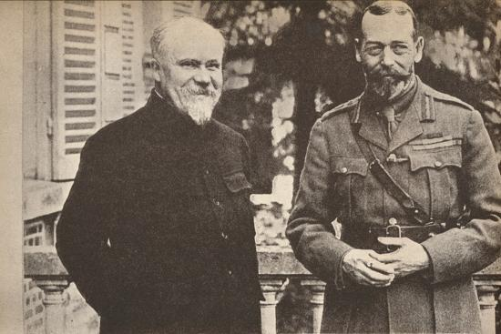 'His Majesty with President Poincare at The British General Headquarters in France', c1916-Unknown-Photographic Print