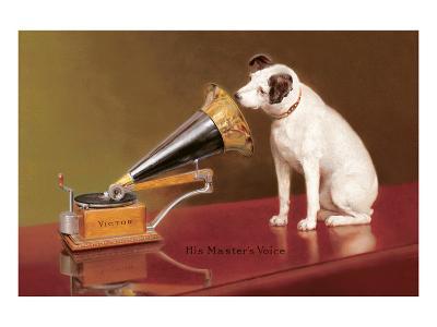 His Master's Voice Ad--Art Print