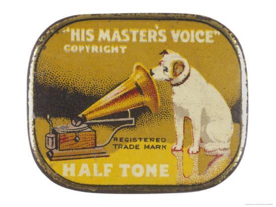 His Master's Voice: The Hmv Dog Listens Eternally- Design-Giclee Print