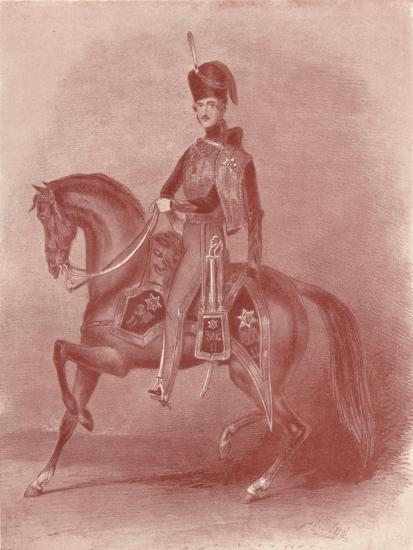 'His Royal Highness Prince Albert, Colonel of the 11th Hussars', 19th century, (1909)-Unknown-Giclee Print