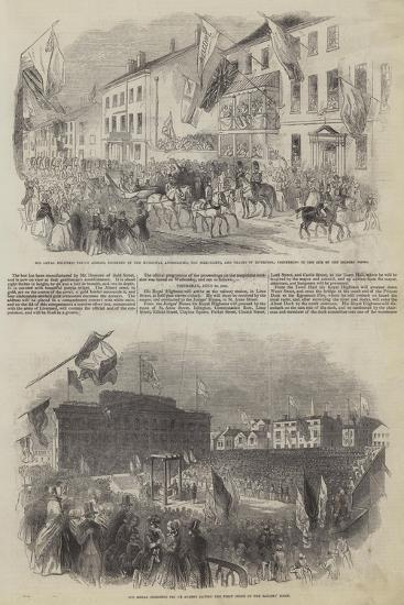 His Royal Highness Prince Albert's Visit to Liverpool--Giclee Print