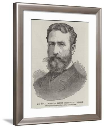 His Royal Highness Prince Louis of Battenberg--Framed Giclee Print