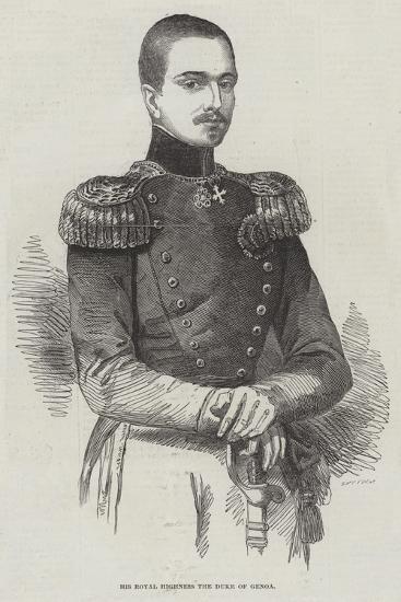 His Royal Highness the Duke of Genoa--Giclee Print