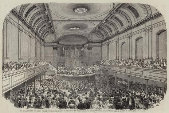 His Royal Highness the Prince Consort Delivering the Inaugural Address to the British Association a-Samuel Read-Giclee Print