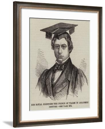 His Royal Highness the Prince of Wales in Academic Costume--Framed Giclee Print