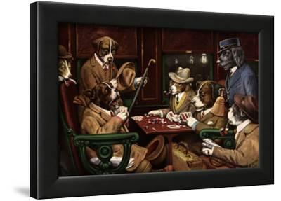 His Station And Four Aces-Cassius Marcellus Coolidge-Framed Art Print