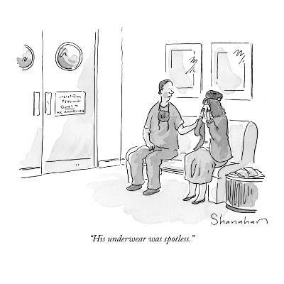 """His underwear was spotless."" - New Yorker Cartoon-Danny Shanahan-Premium Giclee Print"
