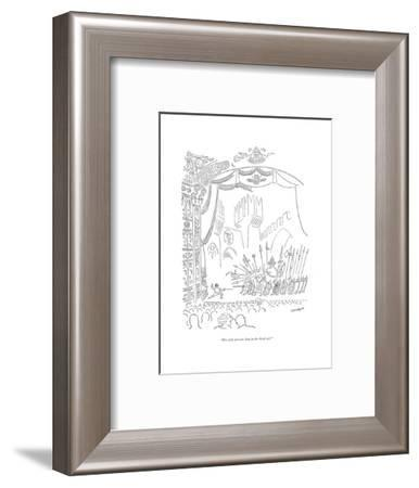 """His wife poisons him in the third act."" - New Yorker Cartoon-Saul Steinberg-Framed Premium Giclee Print"