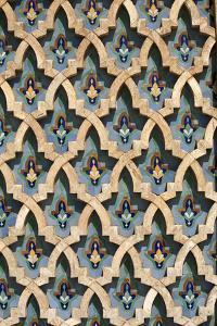 Mosaic Wall, Hassan II Mosque-Casablanca, Morocco by Hisham Ibrahim