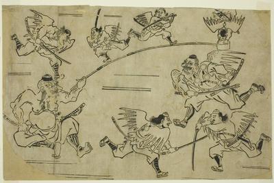 The Tengu King Training His Pupils, C.1690