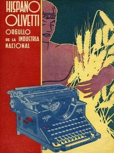 Hispano Olivetti, Magazine Advertisement, Spain, 1936