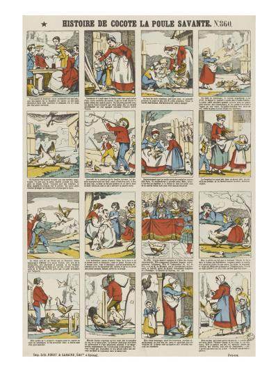 Histoire de Cocotte la poule savante--Giclee Print
