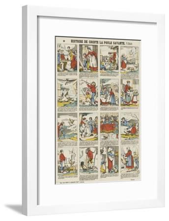 Histoire de Cocotte la poule savante--Framed Giclee Print