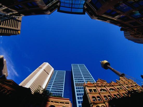 Historic and Modern Buildings, Sydney, Australia-Krzysztof Dydynski-Photographic Print