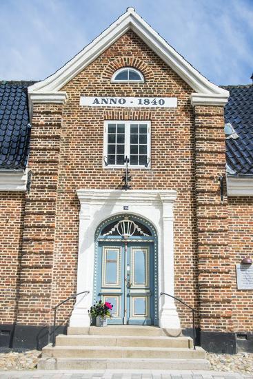 Historic Brick House Entrance in Ribe, Denmark's Oldest Surviving City, Jutland, Denmark-Michael Runkel-Photographic Print