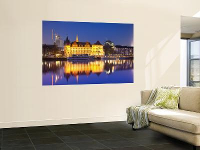 Historic Building Reflected in Main River at Dusk-Richard l'Anson-Wall Mural