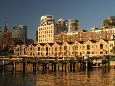 Historic Buildings, The Rocks, Sydney, Australia-David Wall-Photographic Print