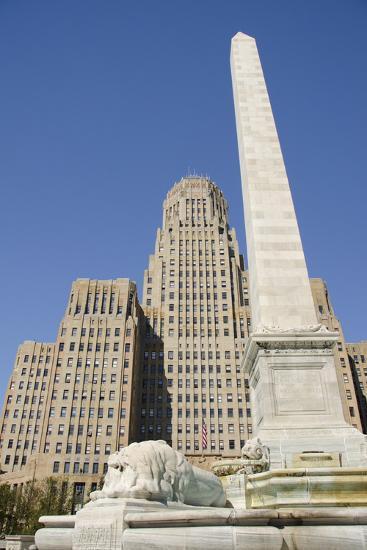 Historic City Hall, McKinley Monument Obelisk, Buffalo, New York, USA-Cindy Miller Hopkins-Photographic Print