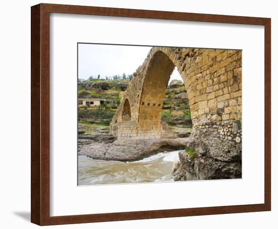 Historic Delal Bridge ('Beautiful Bridge'), Kurdistan-Tony Wheeler-Framed Photographic Print