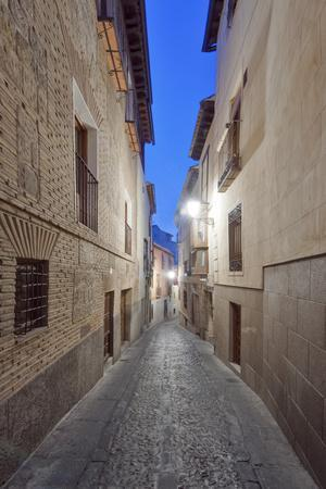 Historic District Alley at Dawn, Toledo, Spain-Rob Tilley-Photographic Print