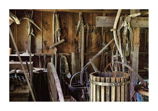 Historic Farm Tools-Donald Paulson-Giclee Print