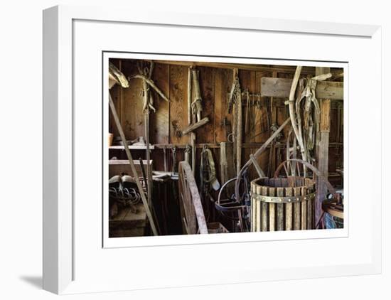 Historic Farm Tools-Donald Paulson-Framed Giclee Print