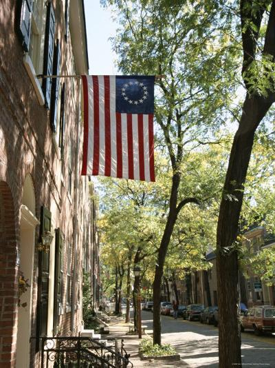 Historic Flag, Society Hill, Philadelphia, Pennsylvania, USA-Ken Gillham-Photographic Print