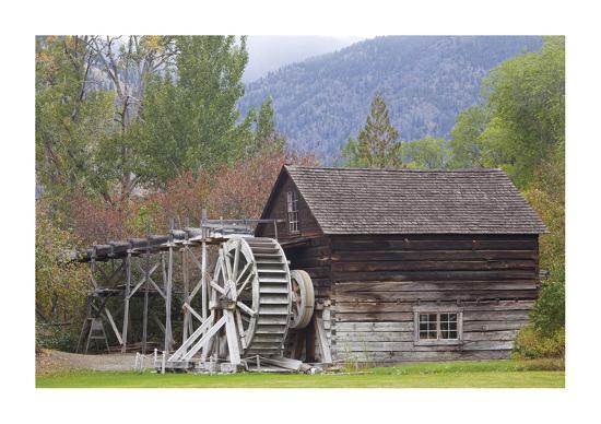 Historic Grist Mill-Donald Paulson-Giclee Print